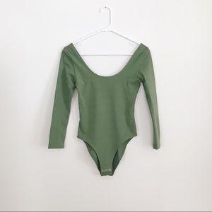 Topshop   Army Green Bodysuit